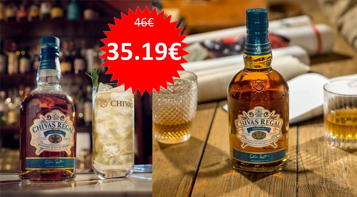 Whisky Chivas Regal Mizunara barato. Ofertas en whisky, whisky barato, chollo