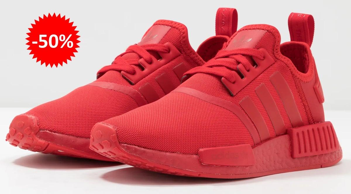 Zapatillas Adidas NMD_R1 rojas baratas, calzado de marca barato, ofertas en zapatillas chollo