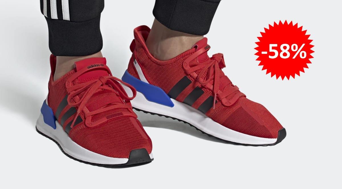 Zapatillas Adidas U_Path Run rojas baratas, calzado de marca barato, ofertas en zapatillas chollo