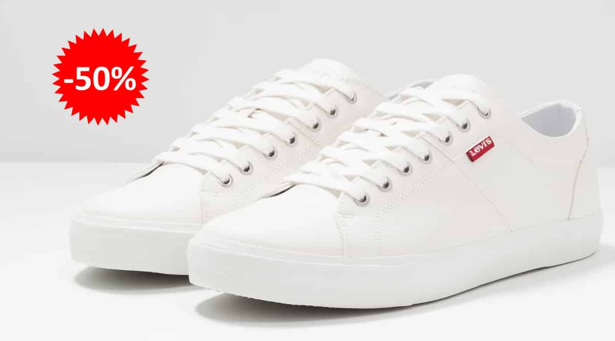 Zapatillas Levi's Woods baratas, calzado de marca barato, ofertas en zapatillas chollo