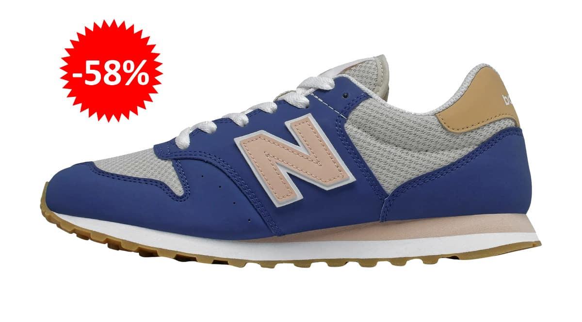 Zapatillas New Balance 500 Classic para mujer baratas, calzado de marca barato, ofertas en zapatillas chollo