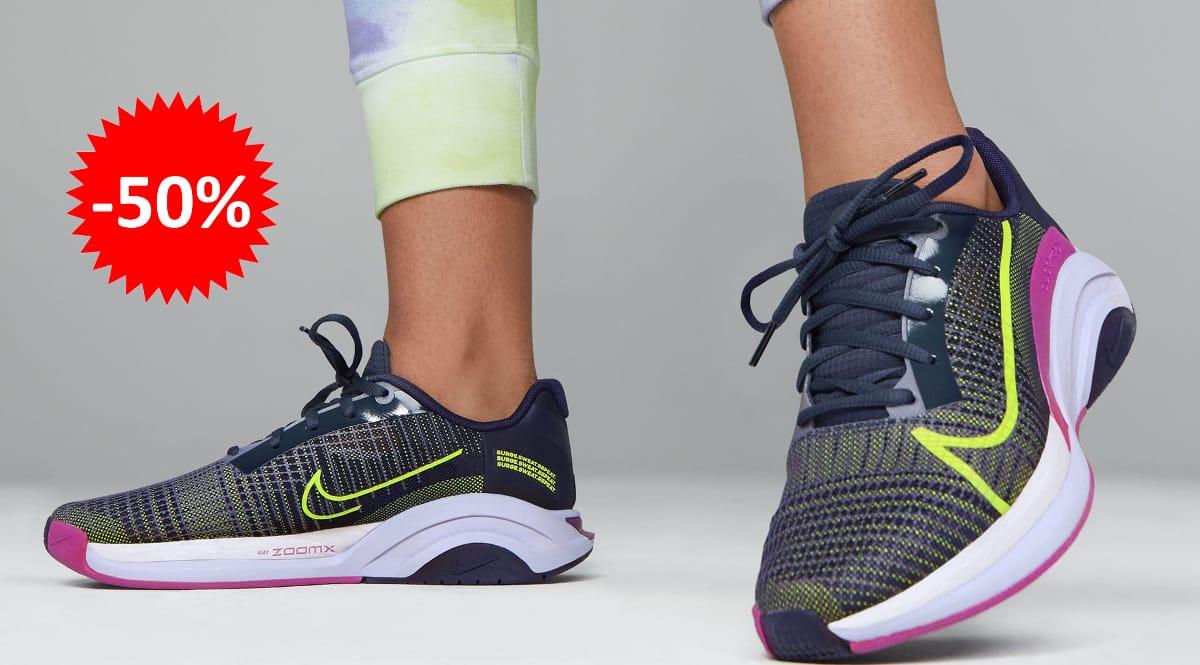 Zapatillas Nike ZoomX SuperRep Surge malvas baratas, calzado de marca barato, ofertas en zapatillas chollo