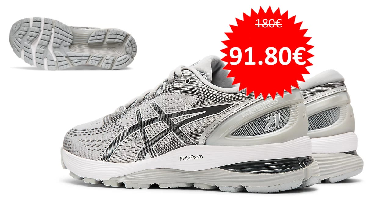 Zapatillas de running Asics Gel-Nimbus 21 baratas. Ofertas en zapatillas de running, zapatillas de running baratas, chollo