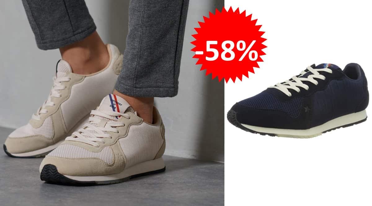 Zapatillas para hombre Superdry Retro Logo Runner baratas, zapatillas de marca baratas, ofertas en calzado, chollo