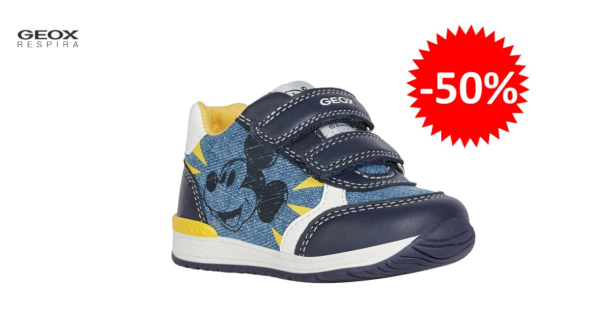 Zapatillas para niño Geox B Rishon Boy C Disney baratas, zapatillas de marca baratas, ofertas para niño, chollo
