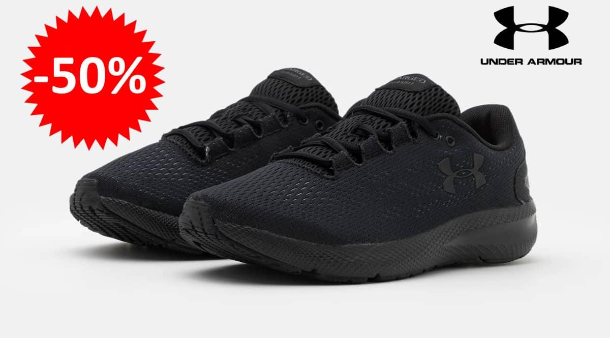 ¡Precio mínimo histórico! Zapatillas de running para mujer Under Armour Charged Pursuit 2 sólo 29.95 euros. 50% de descuento.