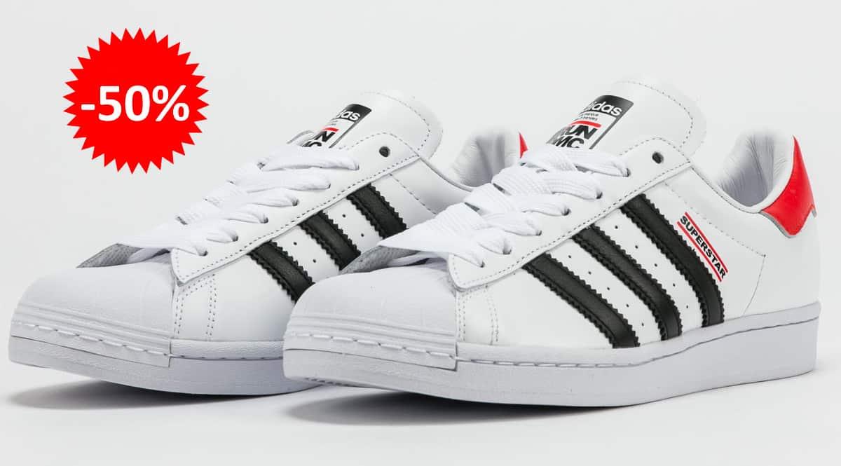 Zapatillas unisex Adidas Superstar x Run DMC baratas, calzado de marca barato, ofertas en zapatillas chollo