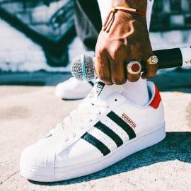 Zapatillas unisex Adidas Superstar x Run DMC baratas, calzado de marca barato, ofertas en zapatillas