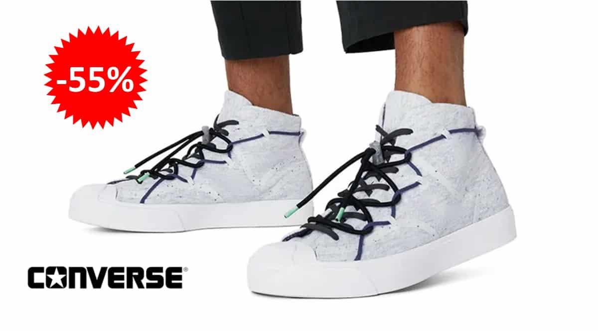 Zapatillas unisex Converse Renew Jack Purcell Mid baratas, calzado de marca barato, ofertas en zapatillas chollo