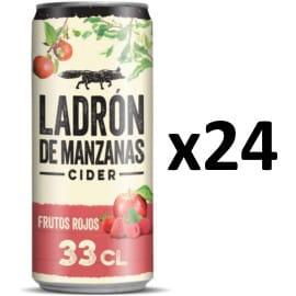 24 latas de cider Ladrón de Manzanas Frutos Rojos baratas. Ofertas en supermercado
