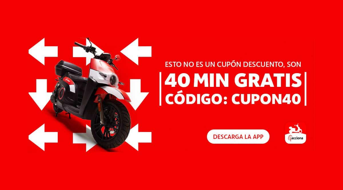 40 minutos gratis en alquiler de motos con Acciona, chollo