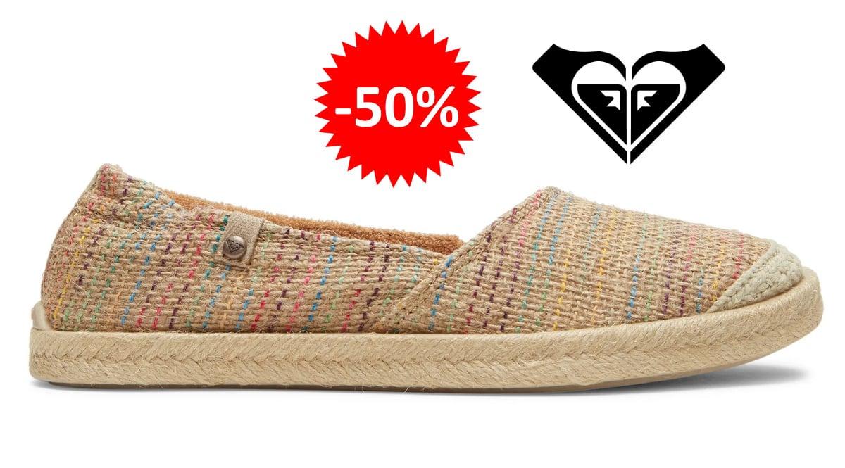 Alpargatas Roxy Cordoba barata, calzado de marca barato, ofertas en calzado chollo