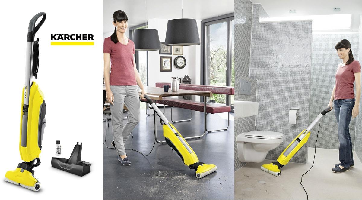 Aspiradora-fregona eléctrica Kärcher FC 5 barata, aspiradoras de marca baratas, ofertas limpieza hogar, chollo
