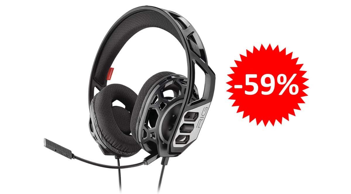 ¡¡Chollo!! Auriculares gaming Plantronics RIG 300HC multiplataforma sólo 16.52 euros. 59% de descuento.