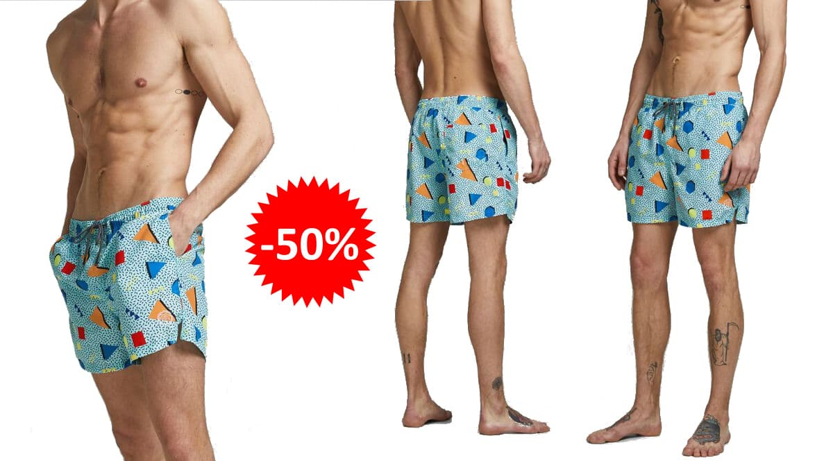 Bañador Jack & Jones Bali barato, ropa de marca barata, ofertas en bañadores chollo