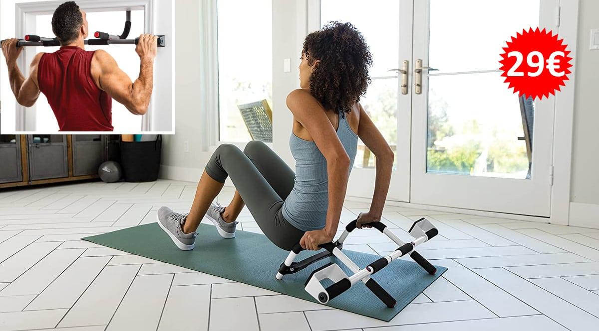 Barra de gimnasio multifuncional Perfect Fitness barata, barras de ejercicios baratas, ofertas material deportivo, chollo