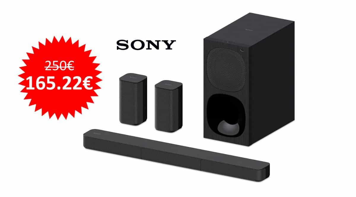 ¡¡Chollo!! Barra de sonido Bluetooth Sony HT-S20R sólo 165 euros. Te ahorras 85 euros.