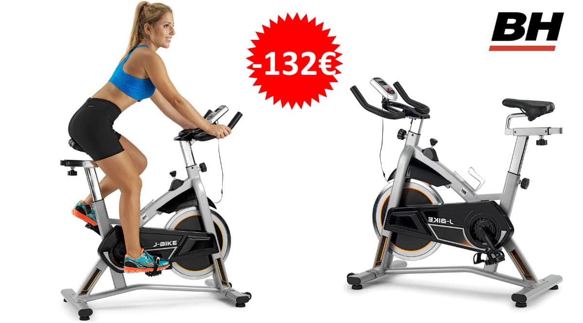 Bicicleta de ciclismo indoor BH Fitness J-Bike H9135RF barata, bicicletas de marca baratas, ofertas material deportivo, chollo