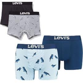 Calzoncillos bóxer Levi's Men's Blue Jay All-Over-Print baratos, ropa de marca barata, ofertas en ropa