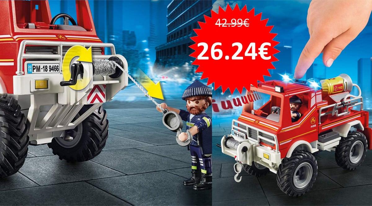 Camión de juguete todoterreno Playmobil barato. Ofertas en juguetes, juguetes baratos, chollo