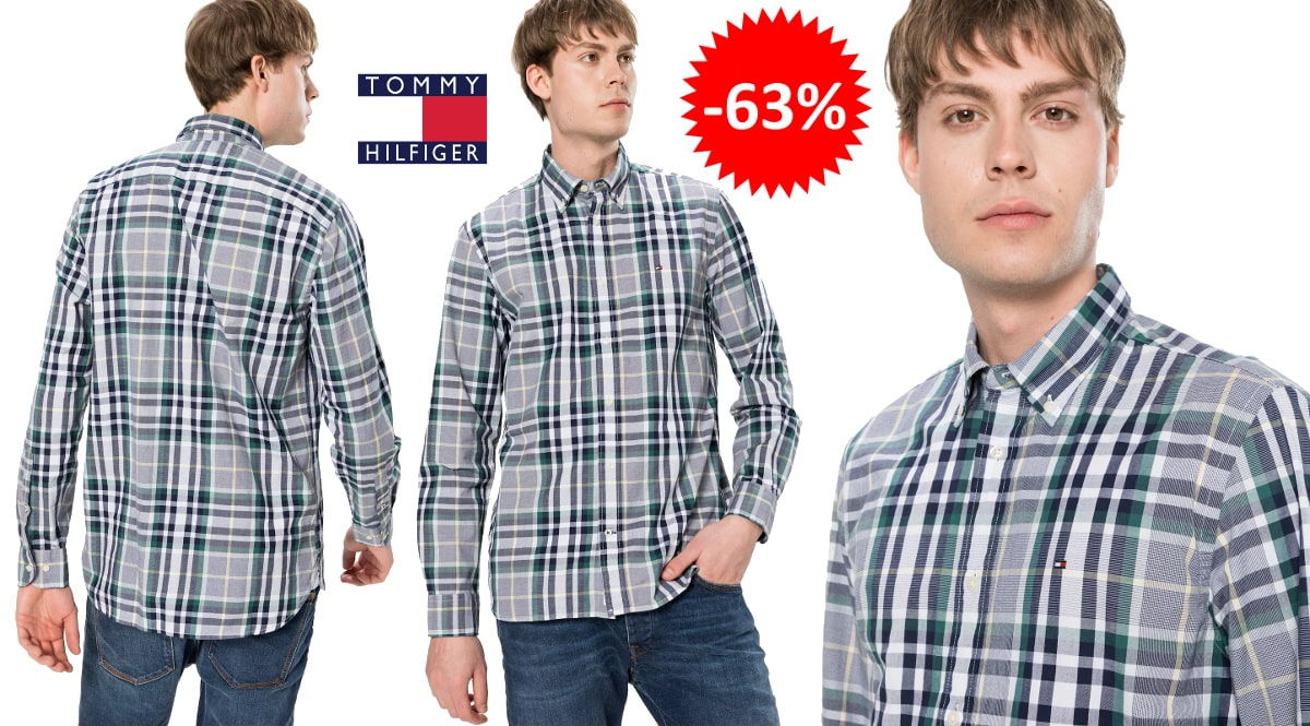 Camisa Tommy Hilfiger Midscale barata, ropa de marca barata, ofertas en camisas chollo
