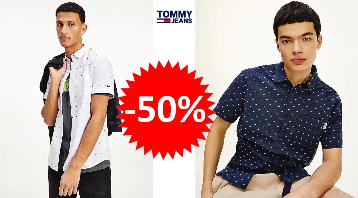 Camisa Tommy Jeans Dobby barata. Ofertas en ropa de marca, ropa de marca barata, chollo