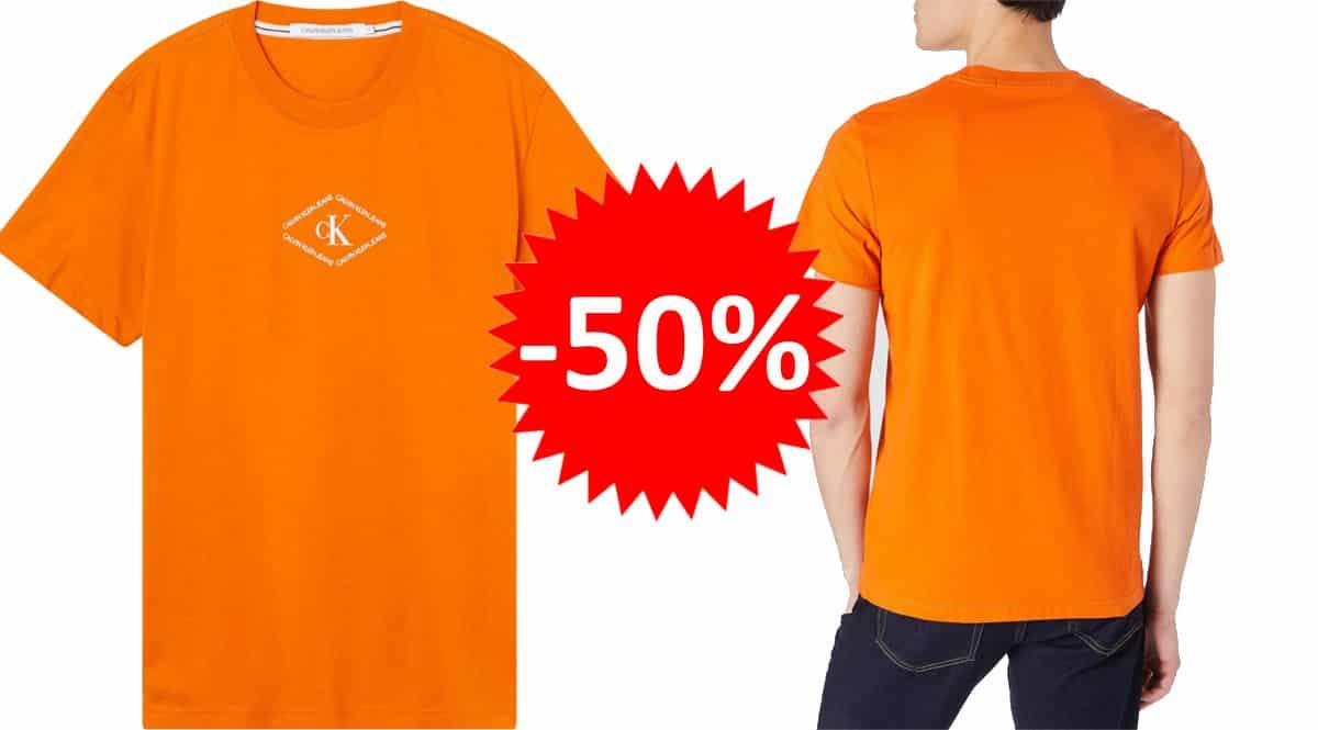 Camiseta Calvin Klein Monotriangle barata. Ofertas en ropa de marca, ropa de marca barata, chollo
