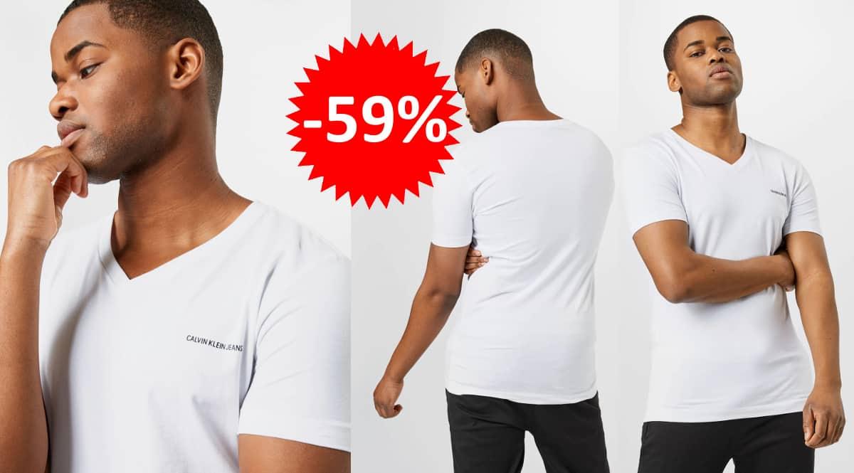 Camiseta Clavin Klein micro barata, camisetas de marca baratas, ofertas en ropa de marca, chollo