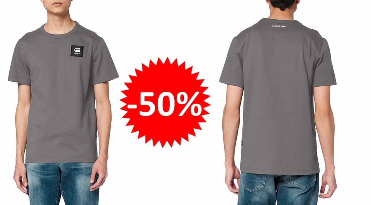Camiseta G-Star RAW Badge Logo barata. Ofertas en ropa de marca, ropa de marca barata, chollo