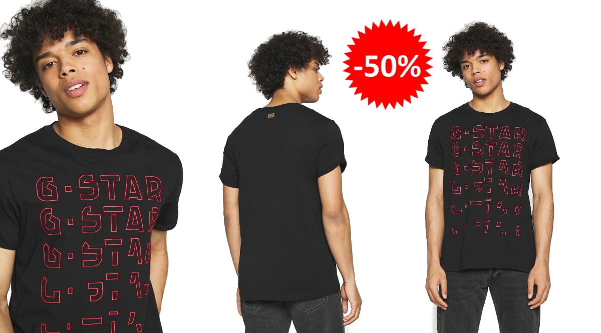 Camiseta G-Star Raw Embro Gradient barata, ropa de marca barata, ofertas en camisetas chollo