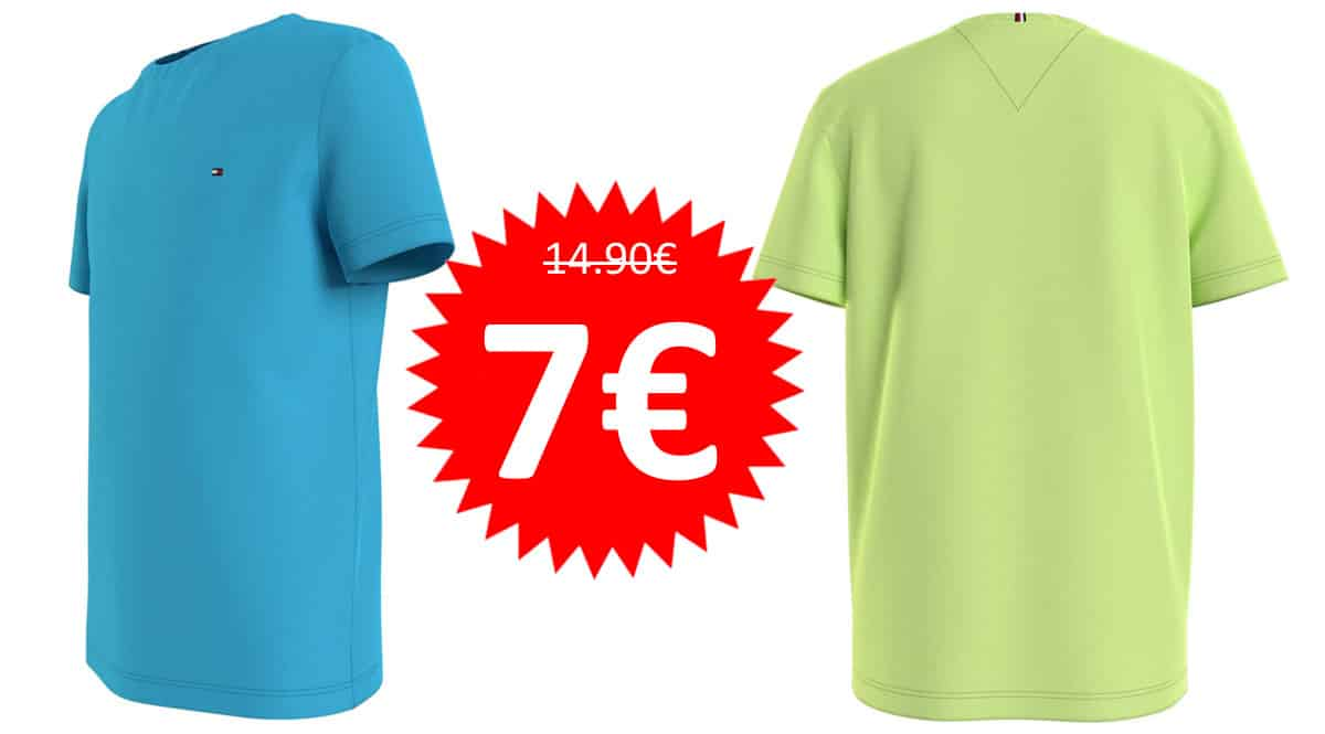 Camiseta Tommy Hilfiger Essential para niños barata. Ofertas en ropa de marca, ropa de marca barata, chollo