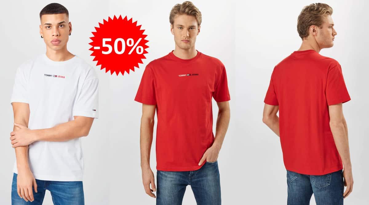 Camiseta Tommy Jeans Lineal Logo barata, camisetas de marca baratas, ofertas en ropa, chollo