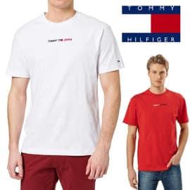 Camiseta Tommy Jeans Lineal Logo barata, camisetas de marca baratas, ofertas en ropa