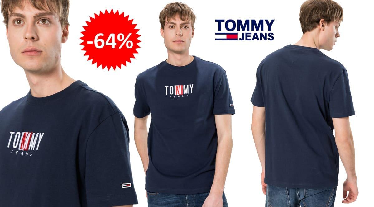 Camiseta Tommy Jeans Timeless barata, ropa de marca barata, ofertas en camisetas chollo