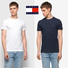 Camiseta básica Tommy Hilfiger Core Stretch Slim barata, camisetas de marca baratas, ofertas en ropa