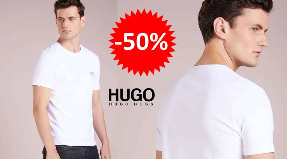 ¡¡Chollo!! Camiseta para hombre Hugo Boss Tales sólo 25 euros. 50% de descuento.