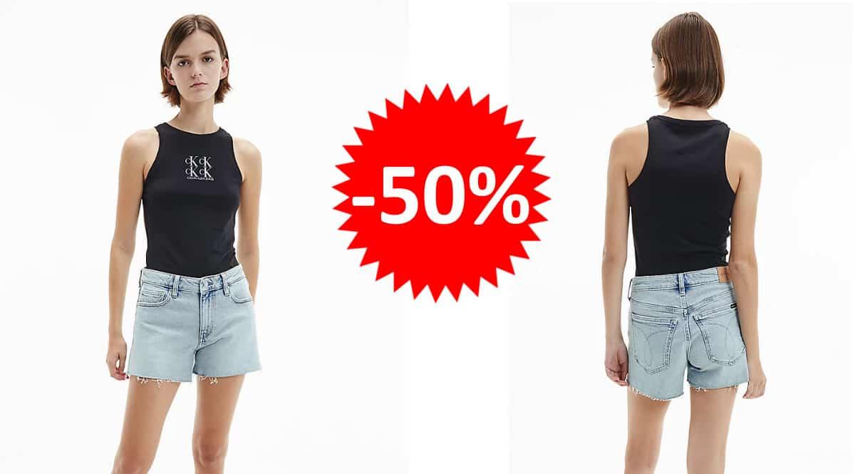 Camiseta para mujer Calvin Klein Jeans para mujer. Ofertas en ropa de marca, ropa de marca barata, chollo