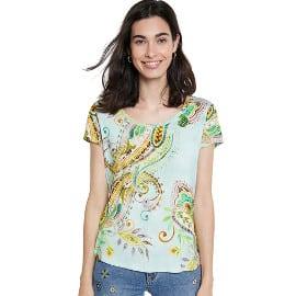 ¡Precio mínimo histórico! Camiseta para mujer Desigual TS Mandragora sólo 14.95 euros. 50% de descuento.