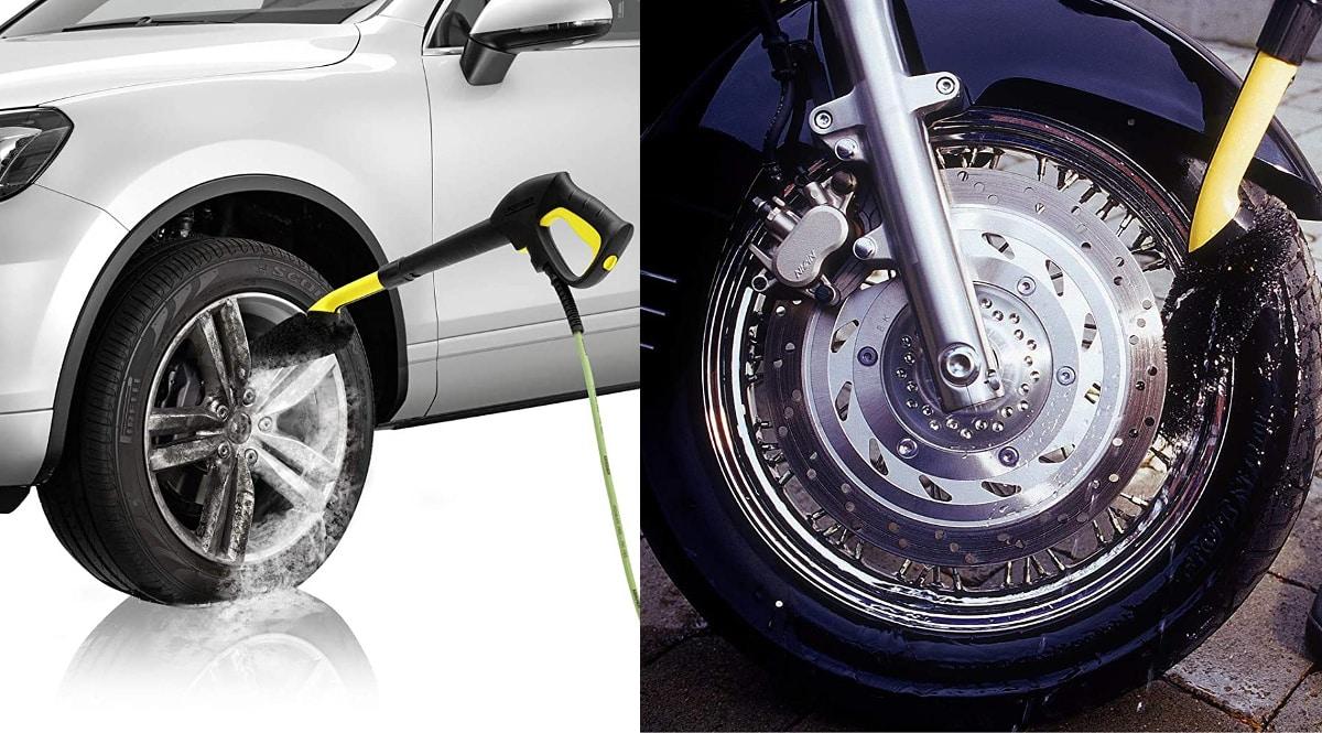 Cepillo para limpieza de llantas Kärcher barato, cepillos para ruedas baratas, ofertas accesorios hidrolimpiadoras, chollo
