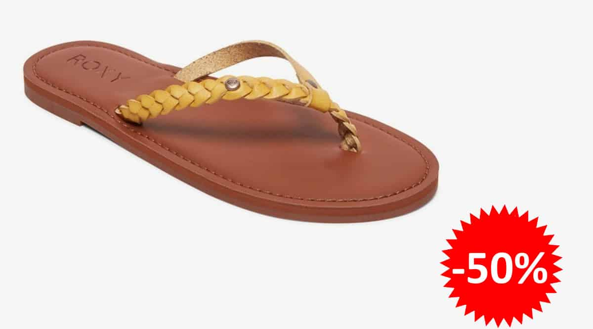 Chanclas Roxy livia baratas, chanclas de marca baratas, ofertas en calzado, chollo