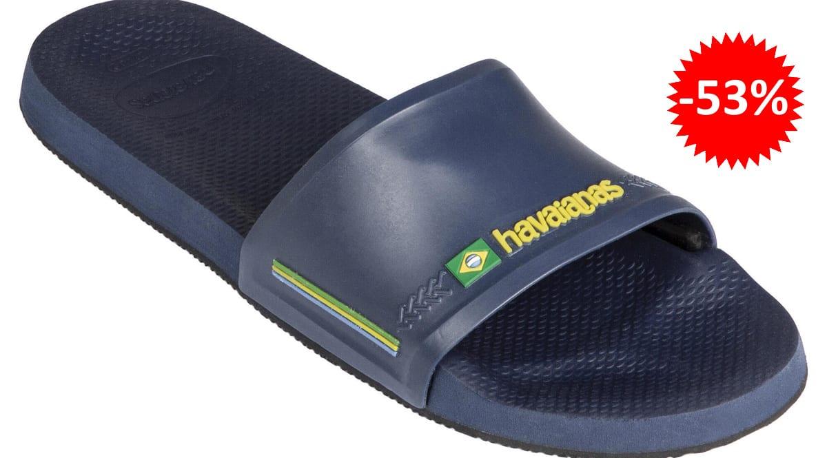 Chanclas unisex Havaianas Slide Brasil baratas, chanclas de marca baratas, ofertas en calzado, chollo