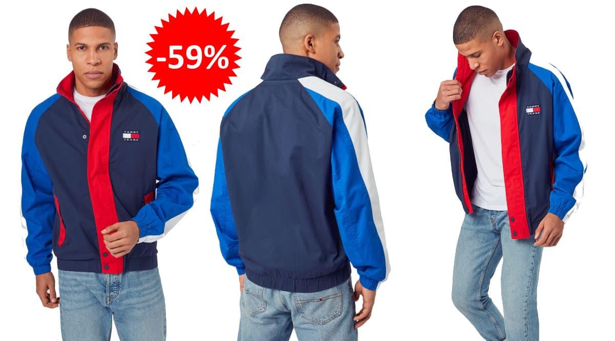 Chaqueta de entretiempo Tommy Jeans barata, ropa de marca barata, ofertas en chaquetas chollo