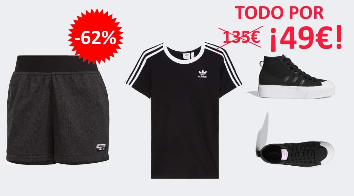 Conjunto Adidas mujer barato, ropa de marca barata, ofertas en calzado chollo