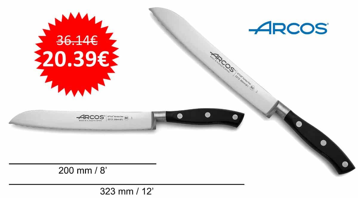 ¡¡Chollo!! Cuchillo panero Arcos Serie Riviera sólo 20 euros.