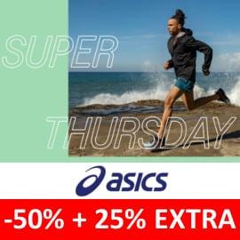 Descuento EXTRA Super Thursday Asics. Ofertas en zapatillas, zapatillas baratas
