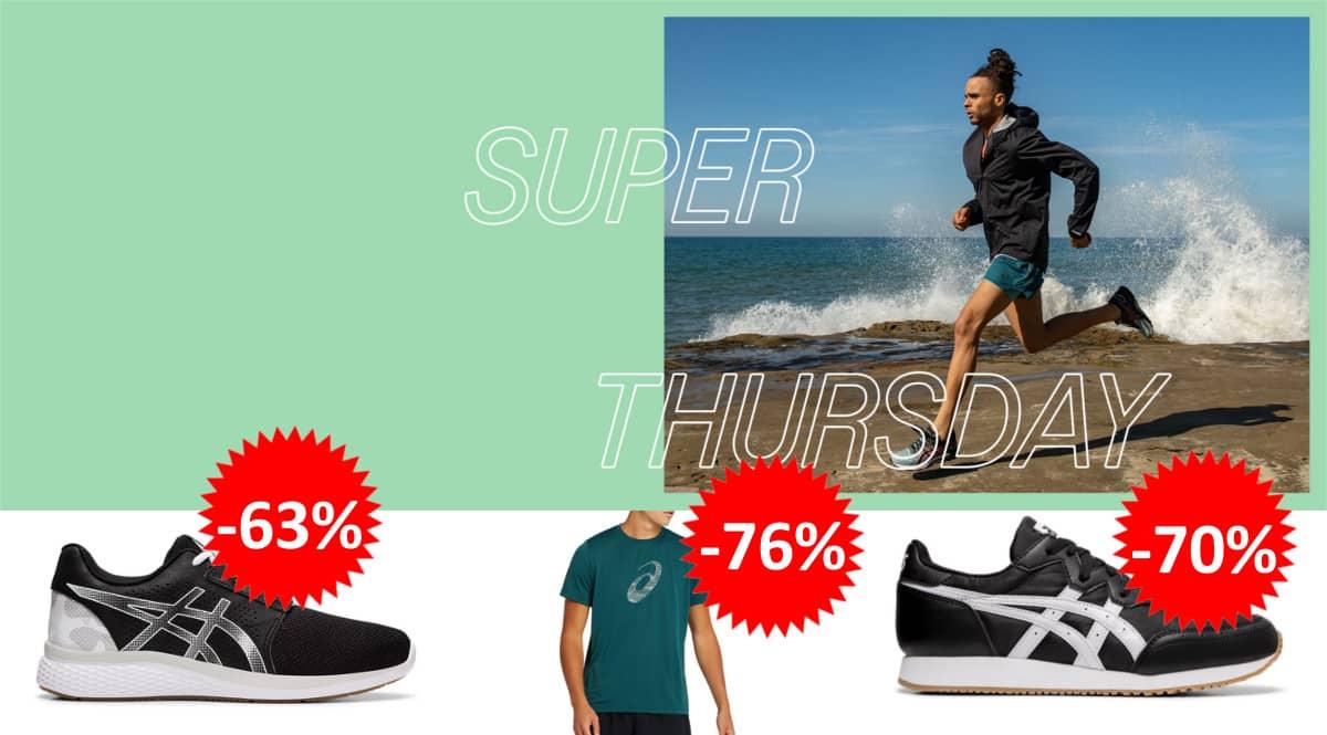 Descuento EXTRA Super Thursday Asics. Ofertas en zapatillas, zapatillas baratas,chollo
