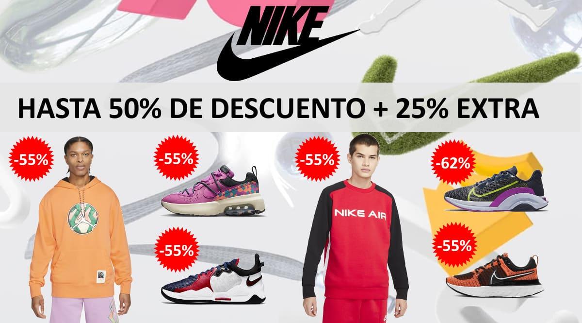 Descuento EXTRA rebajas Nike, ropa de marca barata, ofertas en zapatillas chollo