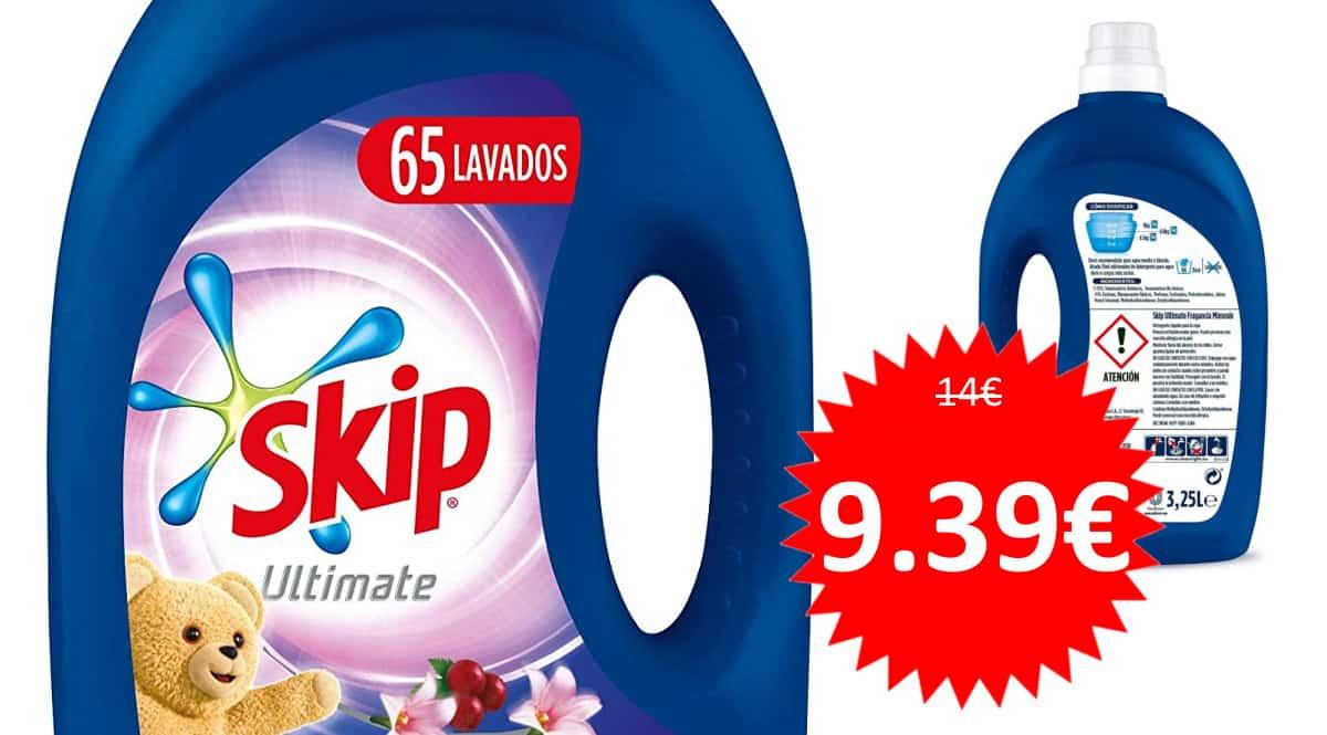 Detergente líquido Skip Ultimate Triple Poder Mimosín 65 lavados barato. Ofertas en supermercado, chollo