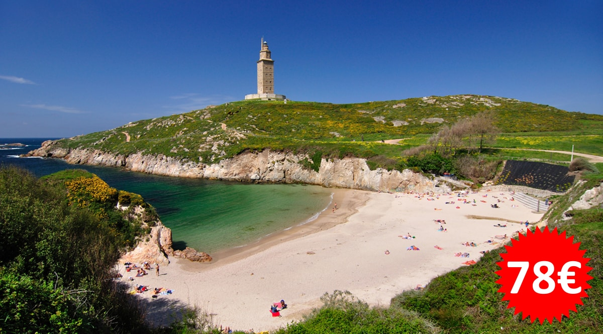 Escapada a Coruña barata, hoteles baratos, ofertas en viajes CHOLLO