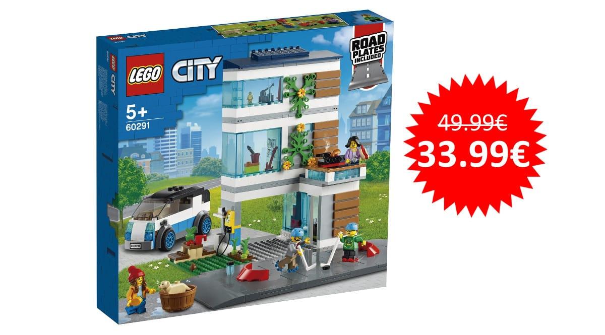 ¡Precio mínimo histórico! LEGO City Casa Familiar sólo 33.99 euros.